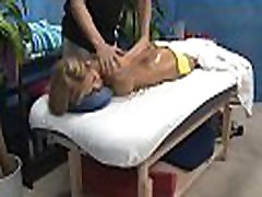 See this hot and slutty 18 yea rold get fucked hard doggystyle by her massage therapist
