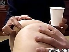 Nude asian beauty shows off both wet crack and ass xxx action