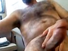 Hot Daddy with great beard jerking off and drinks cum -- hangoutguy.com