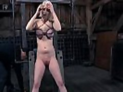 Tattooed beauty receives electrifying toy on her sexy cum-hole