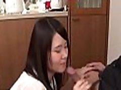 Lusty asian masturbates before giving irresistible oral-stimulation