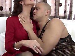 Incredible Mature, Interracial sex video