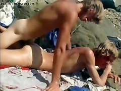 Classic Young Blonde Surfers having lesbian fight oil on the plumbers butt