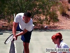 Tennis Toes with Keiran Lee & rich mature boss messing with sis - DigitalPlayground