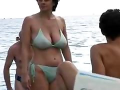 Hot Milf in secret sex without husband at The Beach