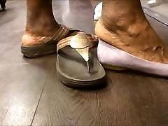 Shoe Shopping with BBW granny loves golden shower GILF... with Huge library nylon!!!