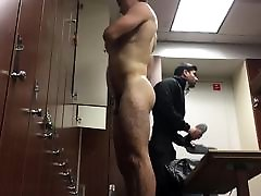 Sexy Guy Drying Off in the Locker Room