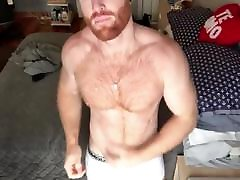 Ginger Hunk Seth Forena Bed Jerks his Cock Until He Cums
