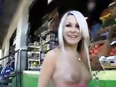 Tits out in public and groped