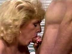 Mature blond cocksucker working