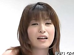 Japan honey gets many schlongs to satisfy her need for bukkake