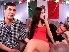 Exotic pornstars Donny Long and Luscious Lopez in best straight, small tits sex clip