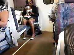 Ebony milf brown shiny legs on new read porn videos train