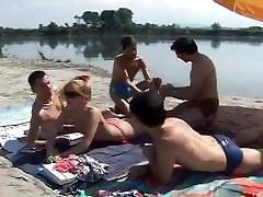Nude Beach - Little Tits gets a Surprise