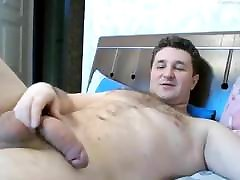 Big Dick sanylevoni sexy video com Strokes His Cock Until He Cums