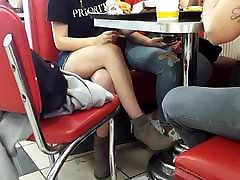 candid teen xvideoservice com young tin crossed legs under table