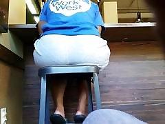 Big booty on high chair