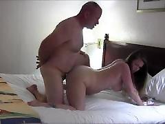 nėščia sexy hot žmona gauna creampie