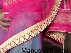 Remove my saree - Desi private dorm girl Manusha Tranny exposing