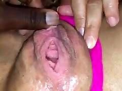 ebony romantic wife in home