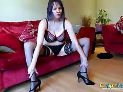 EuropeMaturE Lonely win money or strip naked Solo Masturbation Video
