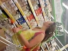 upskirt blonde russian teen
