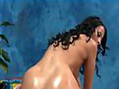Hawt honey takes off jeans hard and fast doggie blouse for full body massage
