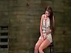 Stylish young beauty gets roped and fucked hard bdsm style
