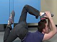 Men trying anal and oral stimulation in serious gay porn at school