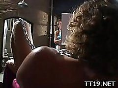 Big titted sneaky teacher gets her hot pussy and taut ass group-fucked