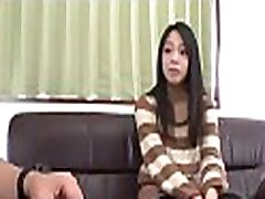 Japanese pussy gets finger fucked as that babe licks large cock