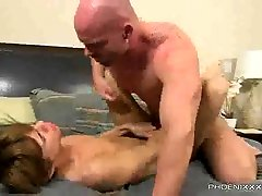 Big manly hunk Mitch Vaughn fucks the cum out of Kyler Moss