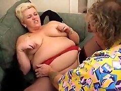 Amazing Blonde, BBW porn clip