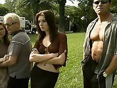 Horny Threesome, Cumshot jack up scene