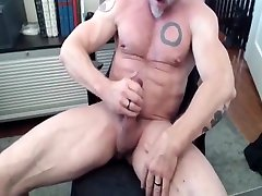 Exotic gay scene with Bear, Muscle scenes