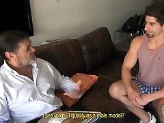 Bearded chubby brit swingers baddy fucks his hot boy