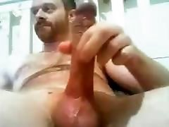 Manly Str8 Guy with Long Veiny Cock cums a Thick Load 149
