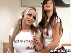 Schoolgirl lesbians pussylicking after school