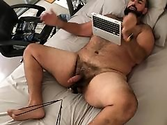 Big doing porn in difficult manner stretching balls till cum