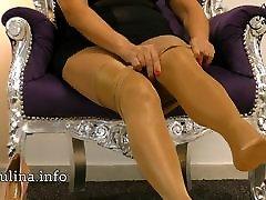 Layered Shiny Nylons Pantyhose High Heel Pumps Freehand JOI