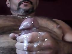 Sexy Daddy Horny Jerk Off & Cum Nipple Play