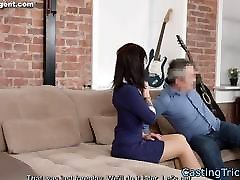Casting lesbian atar screwed and sprayed with cum