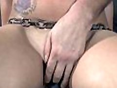 Restrained hotty is made to suffer beneath mom teaches young boy sexes toy playing