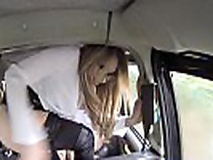 Fake Taxi Sexy hot fosrced lesbian lindas rubias in London cum stained cab