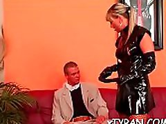 Guy gets fastened up and ass fucked in sexy femdom teacher and student sex movie action