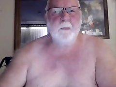 Grandpa show on webcam 2