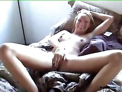 Smiling GF gets creampied after hardcore sex