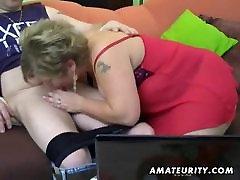 Lihav amatöör naine omatehtud imeda ja keppida