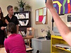 גדול ציצי לטינית מורה מקבל wank school אד שיעור