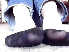 mėgėjų su ped juodos kojinės